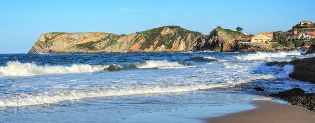 Rincón Este de la Playa de Comillas. Cantabria.