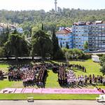 Sex, 27/09/2019 - 10:05 - A comunidade do Politécnico de Lisboa assinalou, no dia 27 de setembro de 2019, em vários locais, um manifesto em silêncio pelo clima. Entre as 11h00 às 11h11, vários estudantes, professores e não-docentes, vestidos de branco e preto, assinalaram, na Praça da Saúde da ESTeSL, no Campus de Benfica do IPL (ESCS, ESELx e ESML) e, no Auditório A do ISEL, um protesto de silêncio pela mudança imediata de comportamentos face às alterações climáticas e as suas consequências. Os '11' minutos simbolizam os anos que restam para limitar o aumento da temperatura global em 1.5º C e assim evitar grandes desastres ambientais.