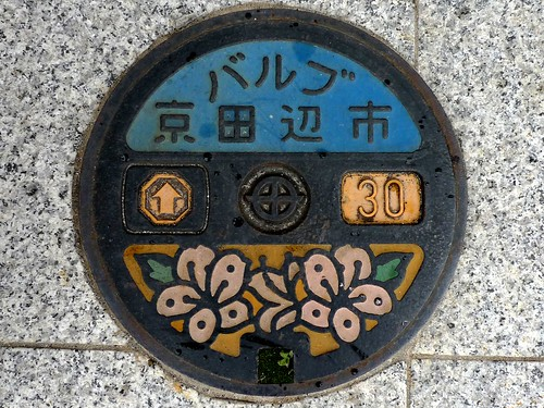 Kyotanabe Kyoto, manhole cover 9 (京都府京田辺市のマンホール9)