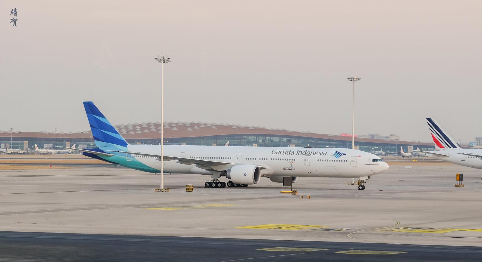 Garuda Indonesia 777 at PEK