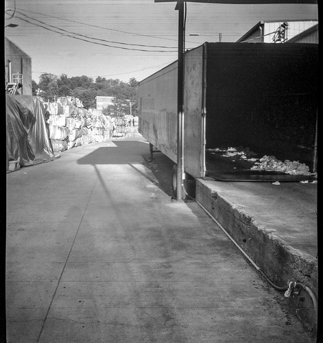 urbanlandscape decay architecture ashevillewastepapercompany asheville northcarolina anscoflashclipper aristaedu200 hc110developer 116camera converted 120film film blackandwhite monochrome monochromatic mediumformat