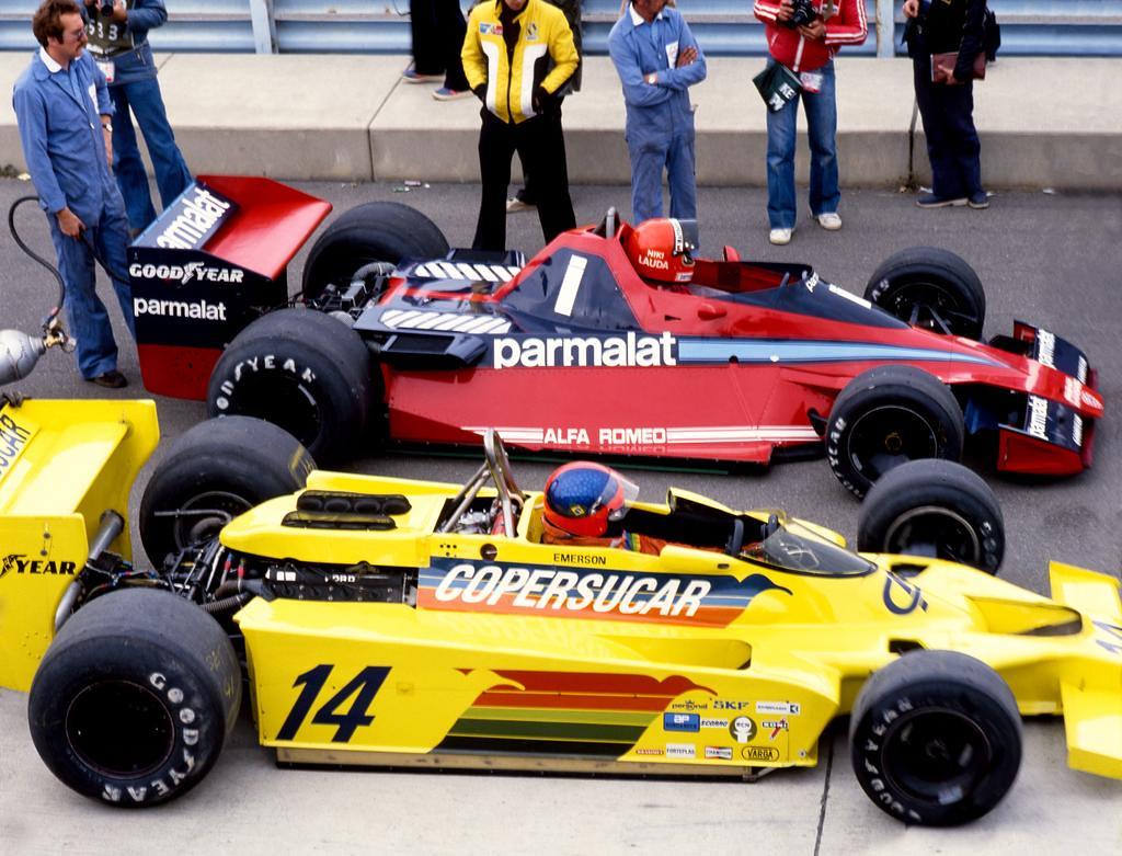 E.Fittipaldi (Copersucar) e Niki Lauda (Brabham), G.P. dos E.U.A. Este, 1978