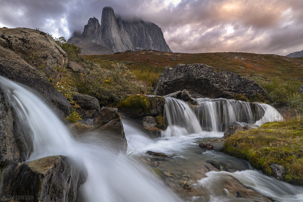 Waterfalls and the tower - Tasermiut