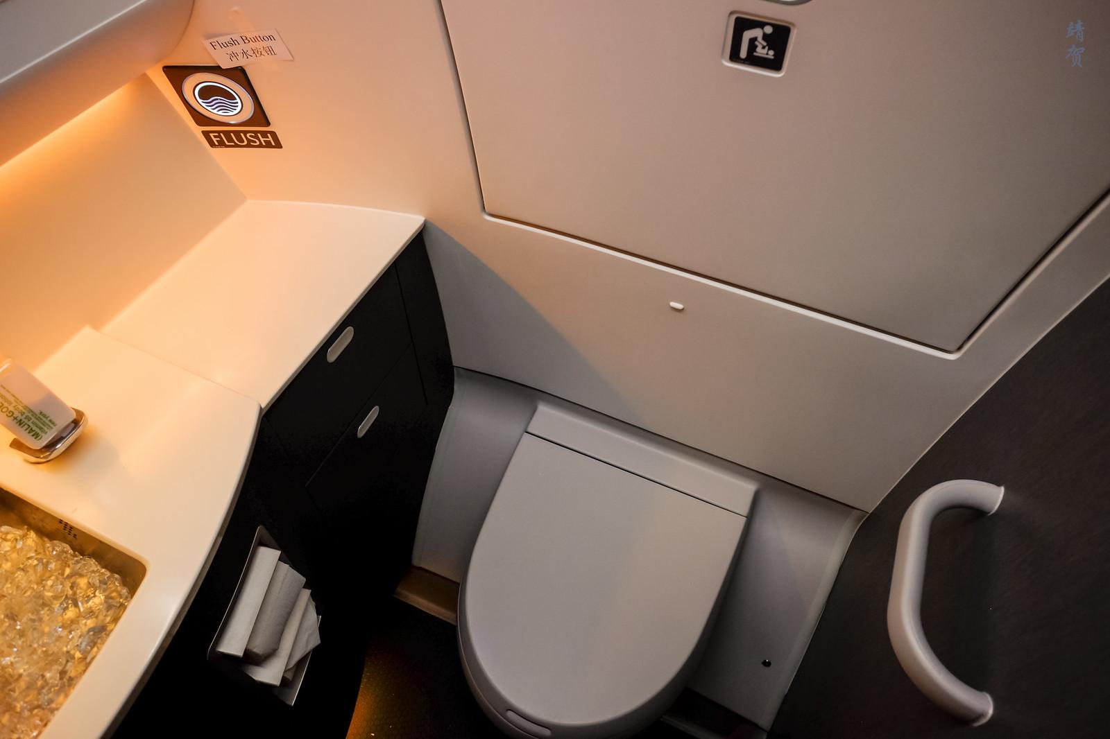 Inside the lavatory