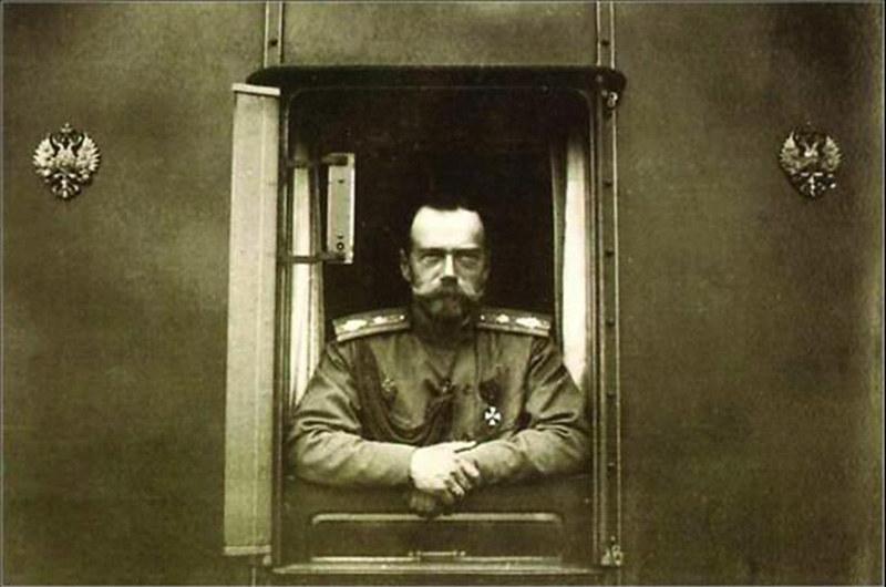 Николай II на ст. Дно 1 марта 1917 г.