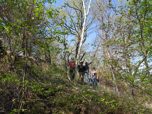 Sun, 05/14/2017 - 11:26 - The Niobrara field crew in front of a birch tree