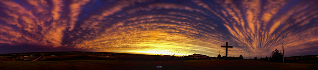 081319 - Nebraska Mammatus Sunset 022 (Pano)