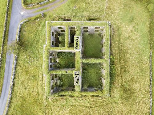 tyronehouse galway ireland drone dji mavicpro ruins ruin decay abandoned manor house