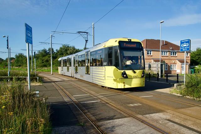 Kerscott Road. Wythenshawe Park Manchester Metrolink.