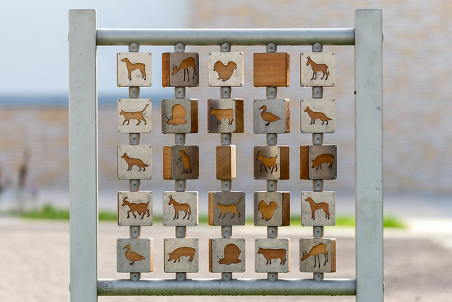 Wooden game similar to Memory with animal symbols