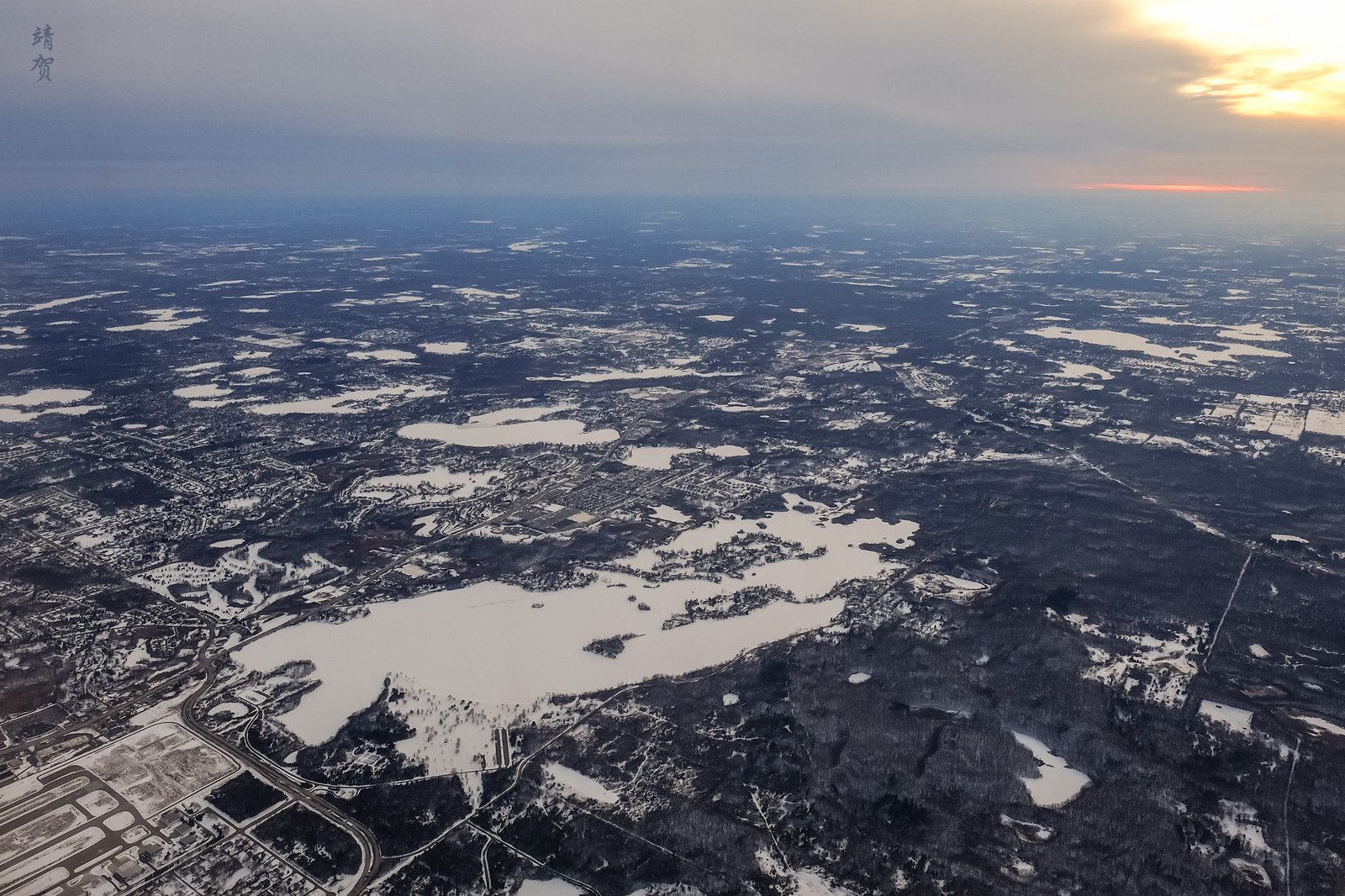 Frozen Pontiac Lake