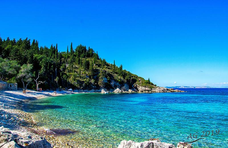 October day at Orkos beach, Paxos, Greece