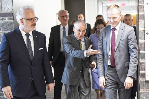 Valsts prezidenta Egila Levita un Andras Levites kundzes tikšanās ar Prinstonas Universitātes starptautiskās diplomātijas studentiem