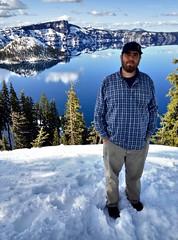 Robert at Crater Lake