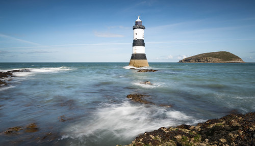 Another of Trwyn Du lighthouse at Penmon Point