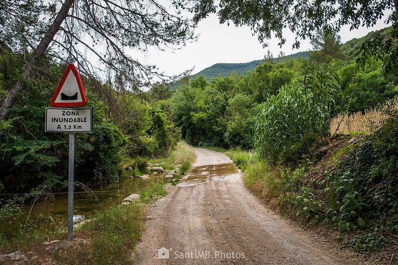 Zona inundable del camino de Coaner