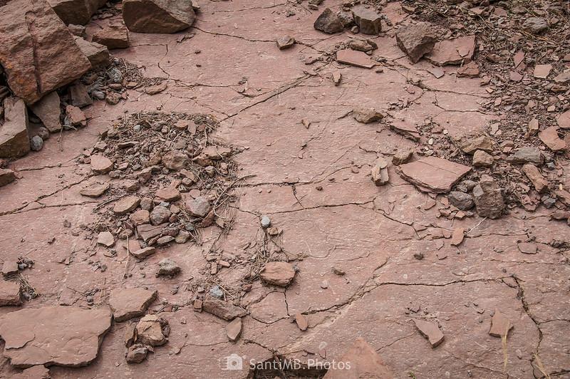 Desprendimiento de rocas cerca de Coaner