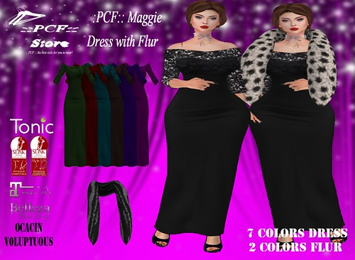 ::PCF:: Maggie Dress With Fur