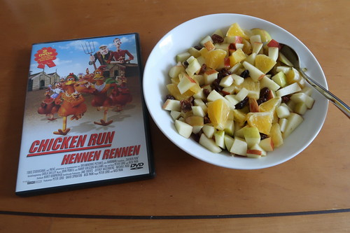 """Obstsalat zum Knetanimationsfilm """"Chicken Run"""""""
