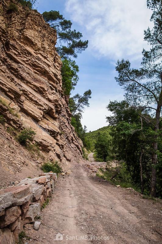 Camino de Coaner cerca de los Gorgs de Coaner