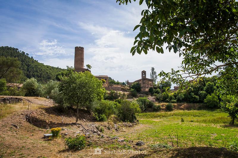 Coaner desde los Trossos de Can Serra de camino al santuario