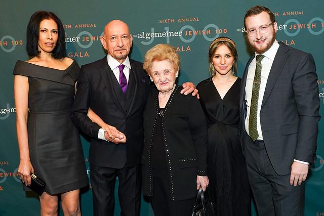 Sir Ben Kingsley And Rachel Riley Honored By The Algemeiner At J100 Gala