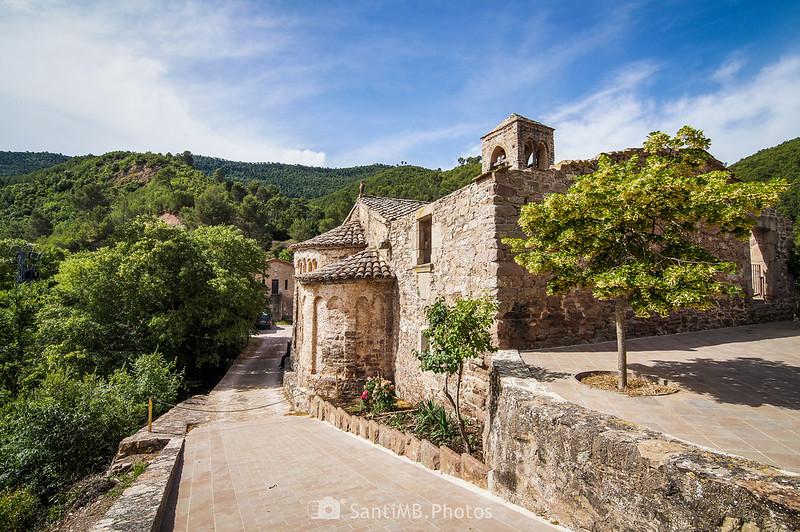 Iglesia de Sant Julià de Coaner desde Can Serra