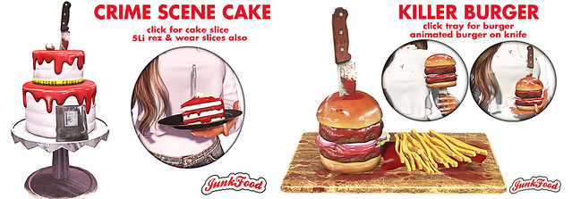 Junk Food - Crime Scene Cake & Killer Burger (Salem)