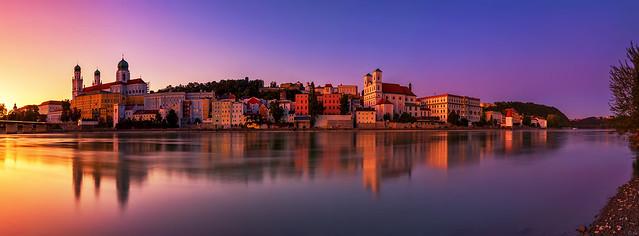 Passau Sunset Panorama