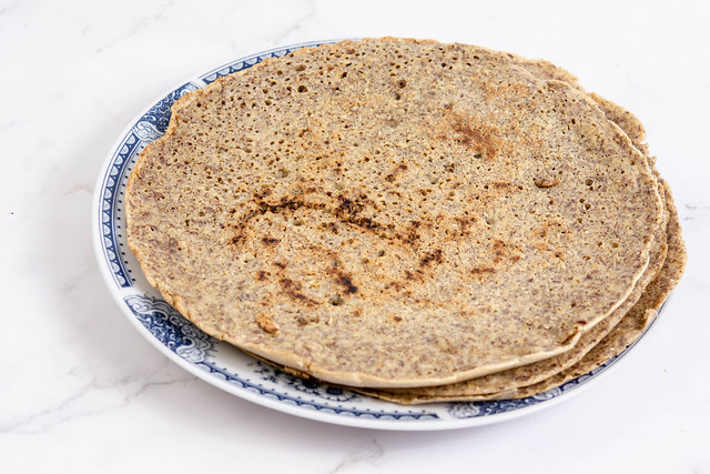 Homemade Whole Wheat Flour Tortillas on the plate