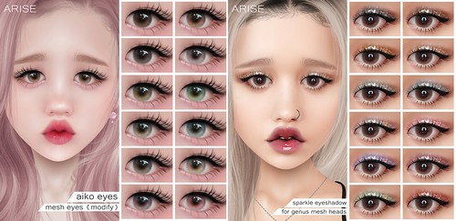 .ARISE. Aiko Eyes & Sparkle Eyeshadow