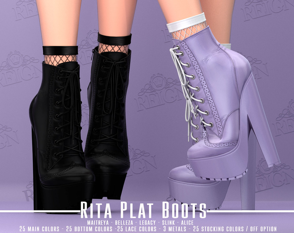 REIGN. RITA PLAT BOOTS! | Available for the September 2019