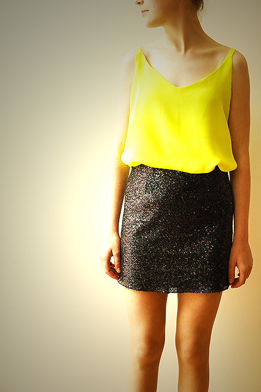 Cami and sequin skirt 005