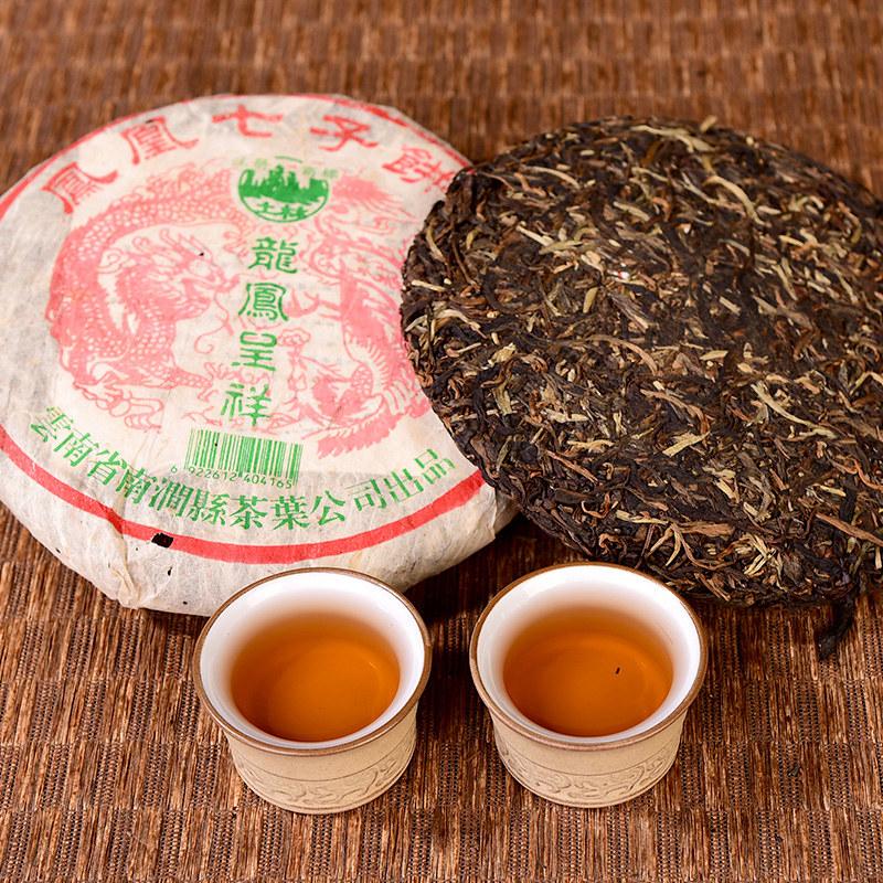 """2004 TuLinFengHuang """"Long Feng Cheng Xiang"""" Cake 357g Puerh Raw Tea Sheng Cha"""