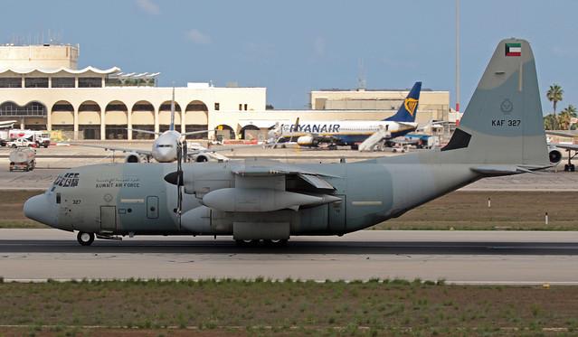 KAF 327 LMML 27-08-2019 Kuwait - Air Force Lockheed KC-130J Hercules CN 382-5749
