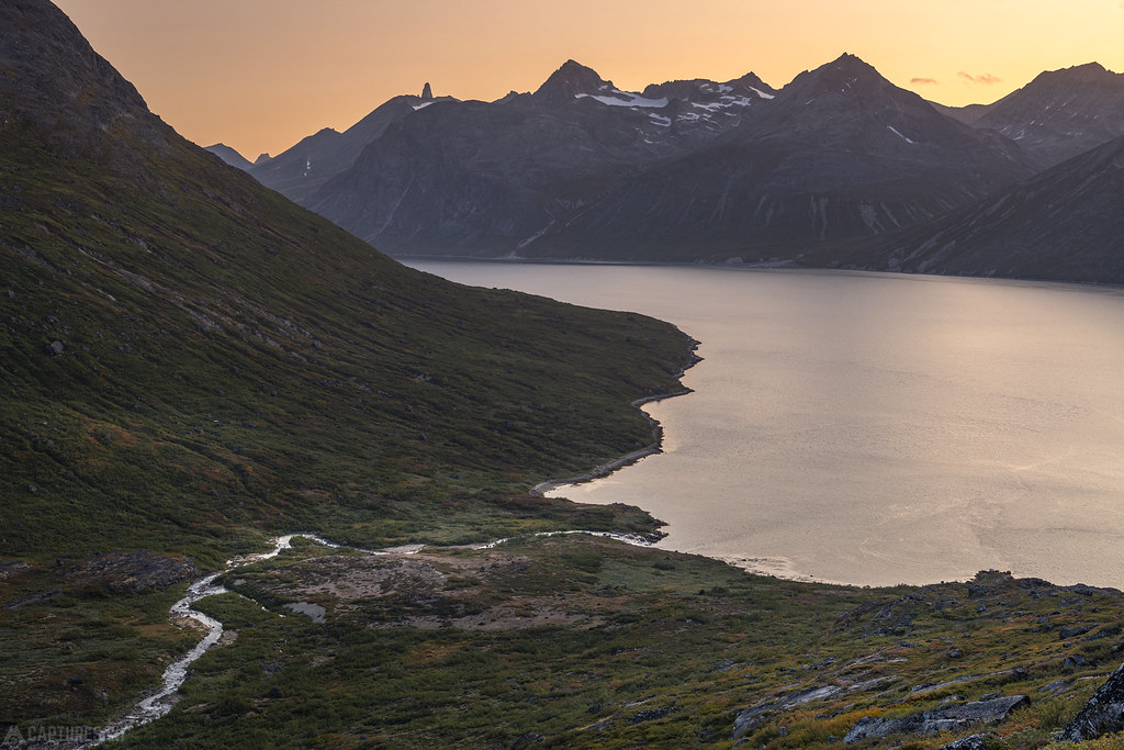 Fjord after sunset - Tasermiut
