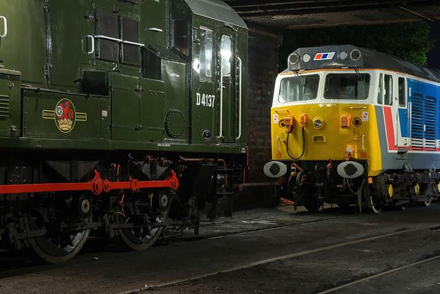 D4137 + 50017 Loughborough Central