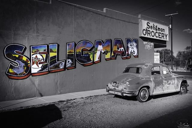 Route 66 feeling in Seligman - Arizona - USA