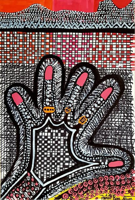 Cuadros modernos pintores desde Israel Mirit Ben-Nun