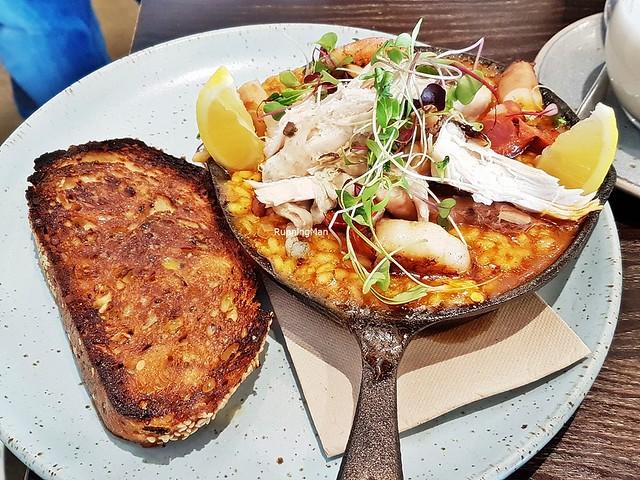 Paella, Chicken, Chorizo, Prawn, Octopus
