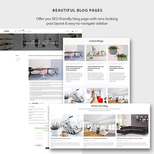 ap pando modern & minimal furniture stores prestashop theme