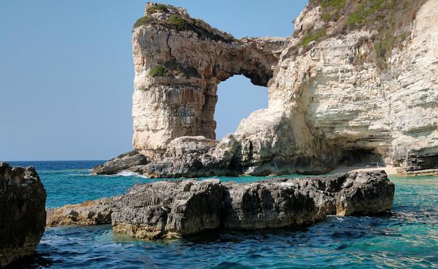 Tripitos Arch, Greek Island of Paxos