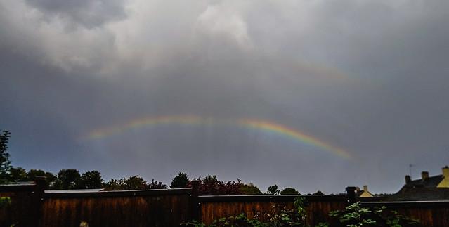 Rainbow with Rain & Anti-crepuscular Rays 15:39 BST 27/09/19