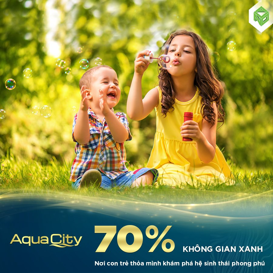 Khoảng 70% diện tích cho mảng xanh thiên nhiên