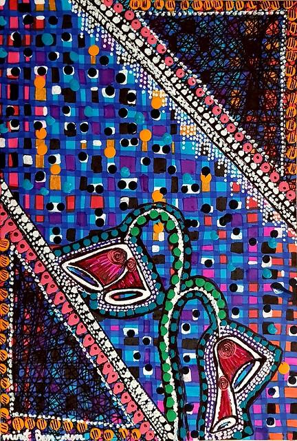 Pintores mujeres desde Israel cuadro primitivo Mirit Ben-Nun