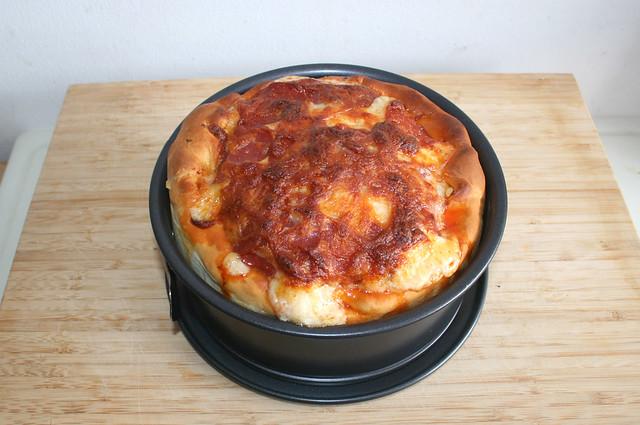 25 - Pizza-Torte - Fertig gebacken / Finished baking