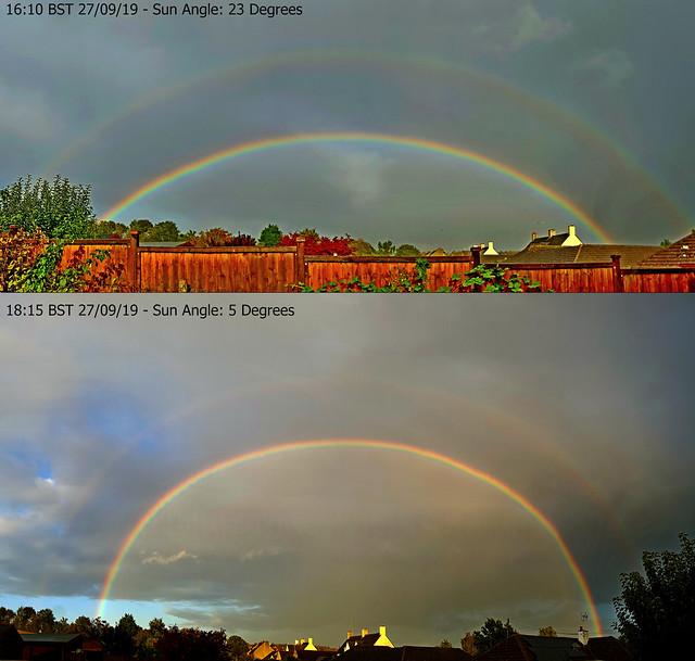 2 Rainbows at Different Sun Altitudes - 27/09/19