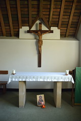 altar in Mother Julian's cell