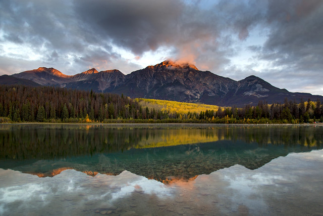 Patricia Lake sunrise reflections
