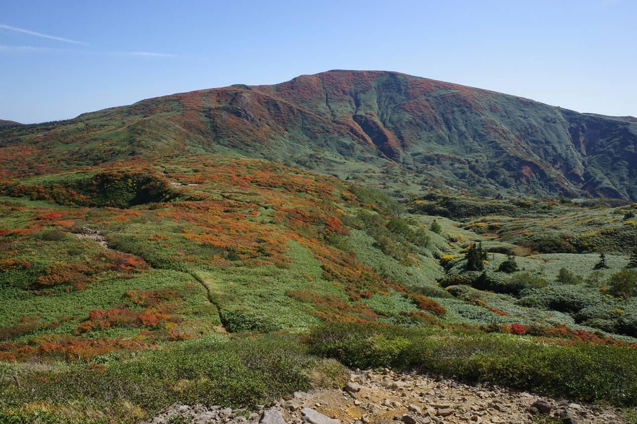 紅葉の笊森山